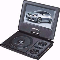 Dvd Portatil Napoli Preto Usb/sd/tv/radio Fm
