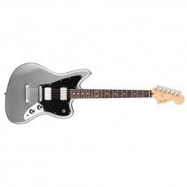 Fender Jaguar Blacktop Mexico, Rwn, Hh, Silver