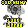 Camera Segurança Hd Cftv 1000 Linhas Ccd Sony Noite Dia Shar
