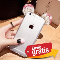 Funda Protector Orejas Mickey Transparente Lg X Screen K500
