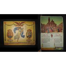 Calendario Mexicano 1957 En Homenaje A La Constitucon Del 57