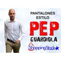 Pantalones De Hombre Slim Fit Tubito Estilo Pep Guardiola