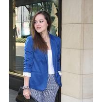 Saco/blazer Azul Manga 3/4 Talla S Para Señorita,dama Oferta