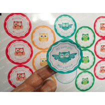 90 Stickers Cortados Para Candy Bar O Mesa Dulce