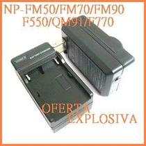 Cargador C/smart Led P/bateria Np-fm500h/f550/f570/f750/f770