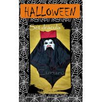 Set Disfraz Halloween Dracula Conde Fiesta Colmillos Capa