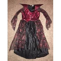 Disfraz Niña 3/4 Viuda Negra Araña Vampira Halloween Origina