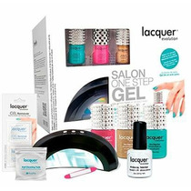 Kit Republic Nails Con 3 Lacquers + Lampara + Limas +decora