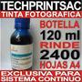 Sistema Continuo Botella Tinta Fotografica Azul 120 Ml Cyan