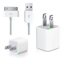 2 X 1 Celulares Cargador Pared Cable Datos Iphone Ipod Apple