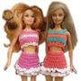 A Pedido Conjunto De Ropa Para Barbie Tejido Crochet