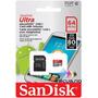 Memoria Sandisk Micro Sdxc Ultra 64gb 80 Mbs 4k Hd 1080 Uhs1
