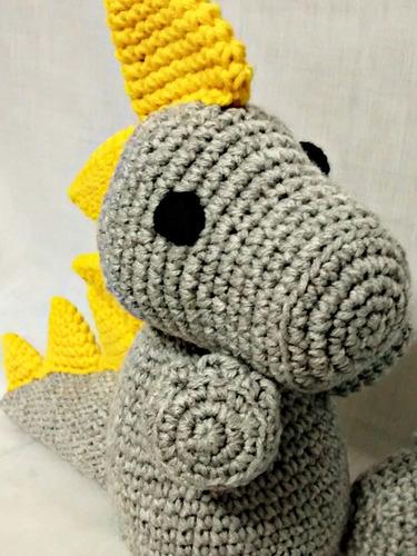Dinosaurio Amigurumi - Tejido Al Crochet - A Pedido! - $ 500,00 en ...