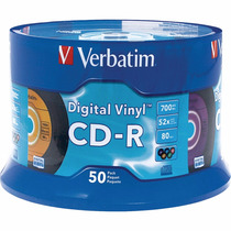 2 Torres De 50 Cd Verbatim Digital Vinyl 700mb 80 Minutos