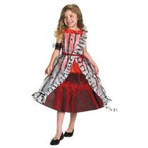 Disfraz Talla 7 A 8 Años Niña Reina De Corazones Alicia