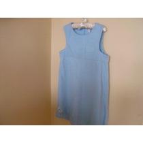 Vestido Jumper De Pana Azul Carters Talla 6x