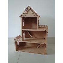 Casa De Boneca Mdf - Polly - Kit Móveis Grátis