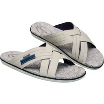 Chinelo Em Couro Freeway Easy-4a 2179 Canastra Off White