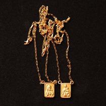 Escapulário Corrente Cordão 60 Cm Ouro 18k 750 Feminino 2,4