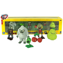 Plantas Vs Zombies Set De 6 Mini Figuras De Coleccion