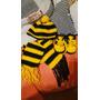 Gorro,bufanda Y Championes En Crochet Para Bebe Peñarol