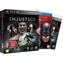 Injustice Gods Among Us + Filme A Liga Da Justiça - Ps3