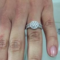 Espectacular Anillo Compromiso Diamantes/oro Blanco 130 Pts