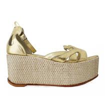 Sandalias De Plataforma Diseño Exclusivo. 100% Cuero