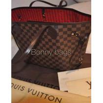 Louis Vuitton Mm Neverfull Ebene,factura Y Ticket!!!