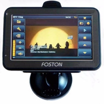 Gps Automotivo Foston 3d 463 Tela 4,3 Avisa Radar,tv Digital
