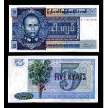 Burma Myanmar 5 Kyats 1973 Idd