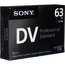 Cassette Minidv Sony Premium - Dist. Oficiales X 100 U