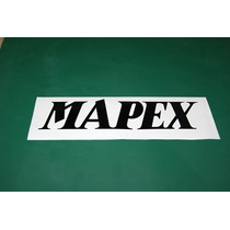 2 Stickers Vinil Mapex Logotipo Bateria Bombo Parche