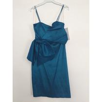 Vestido Corto De Fiesta Color Azul Talla Mediana