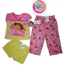 Envio Pijama Dora 2 Anos Nickelodeon Nina 3 Pz Playera Pants