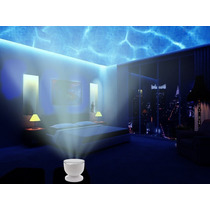 Proyector De Luz, 12 Led,, Mp3 Iphone Altavoz Luz De Noche