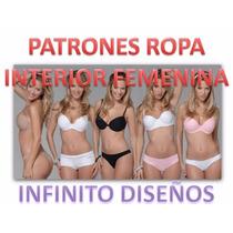Patrones Lenceria Cacheteros Pantys Sostén Hilo Tanga Pijama