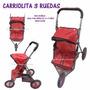 Carriola Grande 3 Llantas Para Muñeca Bebe Niña