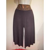 Falda-pantalon Tipo Short Con Lentejuelas Brillosas