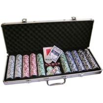 Maleta De Poker 500 Fichas Numeradas Holográficas 11,5g.