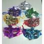 5 Mascaras Venecianas Metalizadas Antifaz Cotillon