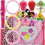 Combo Maquiagem Brilho Labial Acessórios Infantil Kit Festa