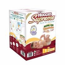 Huggies Supreme Pañales Etapa 1 Unisex 120 Piezas
