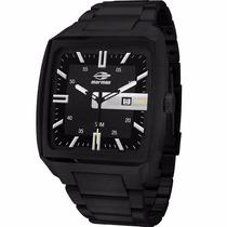 Relógio Mormai Masculino Caixa Grande Todo Preto Mo2315zb/4p