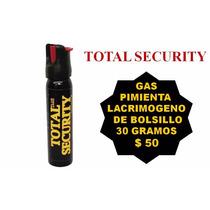 Gas Pimienta Lacrimogeno Mini De Bolsillo 30 Gramos Defensa