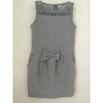 Vestido Infantil Com Renda Zara Tam11/12- Estado De Novo !