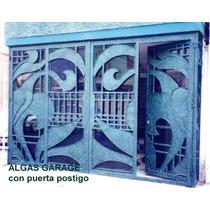 Puerta Algas De Herreria Rustica Fina. Metro Cuadrado