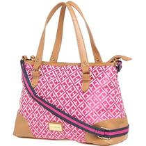 Cartera Tommy Hilfiger Conv Shopper Pink Importada Exclusiva