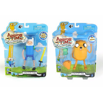 Kit 2 Bonecos Hora Da Aventura Jake + Finn - Cartoon Network