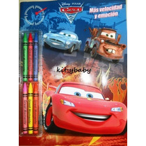 Libro P/colorear C/actividades, Cars 2, Fiesta, Premios
